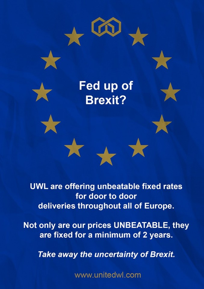 Fed up of Brexit? UWL are offering unbeatable fixed rates throughout Europe! #brexit #keepingusconnected #logistics #transport #united #worldwide #logistics